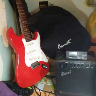🚚 Electric guitar + 15w amplifier