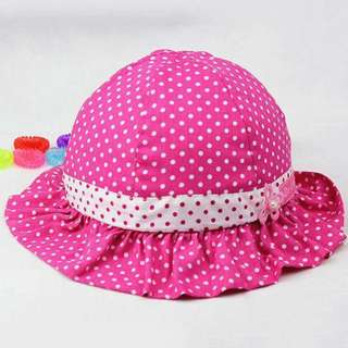 Baby Girl Hat Polka Dots Pink Hat Baby Hat