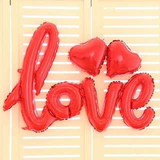 Love Balloon with 2pcs Heart