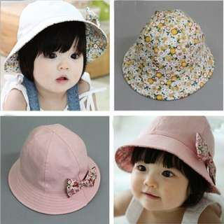 Baby Girl Floral Baby Hat Reversible Hat