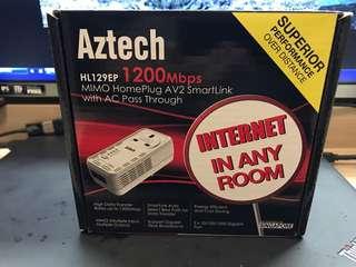 aztech homeplug HL129ep 1200mbps