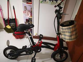 Preloved 12inches wheel foldable E-bike (LTA registered)