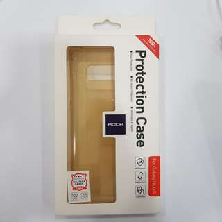 Rock Clear TPU Back Casing for Samsung Galaxy Note 8 Gold