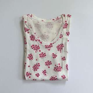 Floral Bodycon Shirt (XS-S)