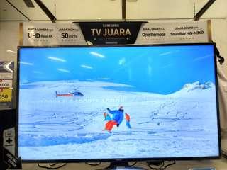 "Samsung 50"" Smart TV 4K UHD Free Soundbar Promo Free 1X Cicilan Tanpa Kartu Kredit Proses Cepat"