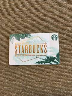 Starbucks paper card