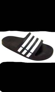 Adidas Black And White Duramo Slides