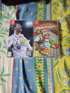 Selling FIFA 18 and overcooked special edition for switch