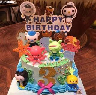 Octonauts party supplies - cake topper / DIY Cake deco