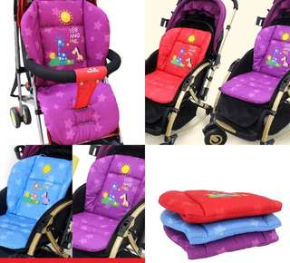 (Ready Stock) Baby Stroller Cushion Star Animals Series Blue,Red,Purple