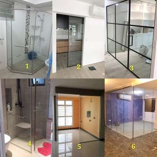 Tempered glass door/shower panel/fixed tempered glass