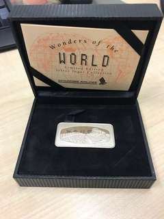 Singapore Airlines silver ingot coin
