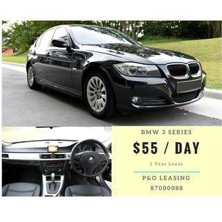 BMW 3 Series $55/ Day 1 Yr Lease