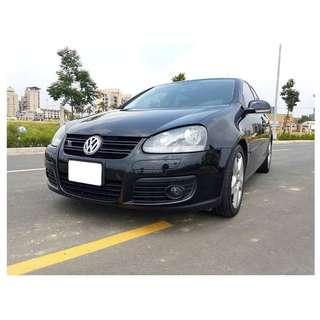 『上嘉汽車』2007年 福斯-GOLF 1.4GT 黑-雙渦輪增壓引擎