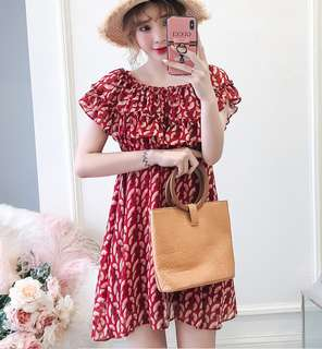 (L - 4XL) PLus Size 2way Dress