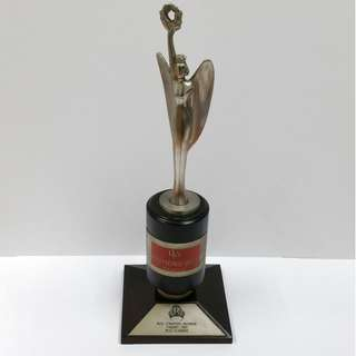 Collectible Rare Vintage Miss Singapore Universe Pageant 1987: Miss Elegance Trophy/Award Presented by Raymond Weil