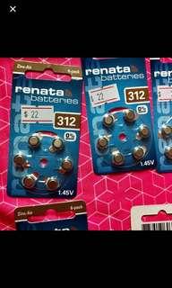 全新電池,助聽器可用,德國2020 new Renata battery hearing aid Germany