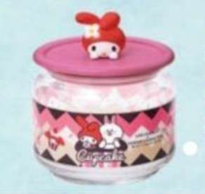 7 Eleven, 7-11 Sanrio Line Friends Glass Container - My Melody