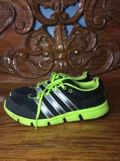 ADIDAS RUNNING SHOES NEON GREEN (FREE SHIPPING!!)