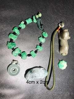 Lot Of five jade/Jadeite Items