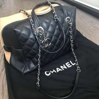 Chanel two-toned bowling bag