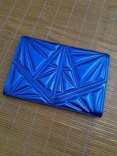 Metallic Blue Clutch Bag