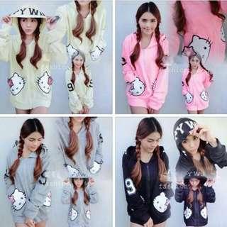 WL: Hello Kitty Hoodie (Free Size)