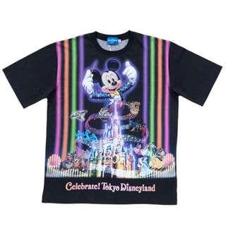 Tokyo Disneysea Disneyland Disney Resorts Sea Land 35th Anniversary Celebrate 2018 T-shirt Preorder