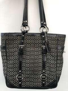 Authentic Black Shoulder Coach Bag