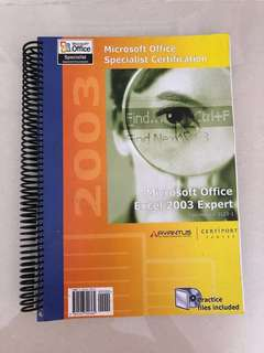 Microsoft office Excel 2003 expert