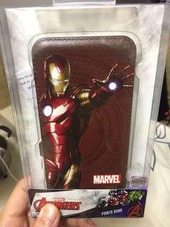 正版marvel avengers iron man power bank 鐵甲奇俠 尿袋 充電 8000mAh