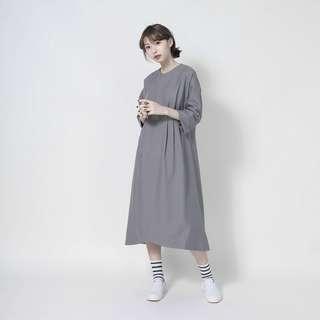 🚚 SU:MI Alice 愛麗絲摺片洋裝_淺灰F