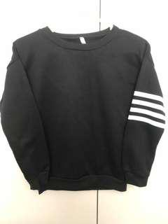 BNWOT - Black jumper with varsity style stripes