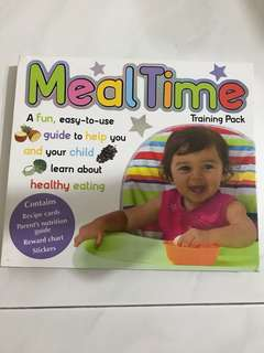 Meal time hard cover book with recipes