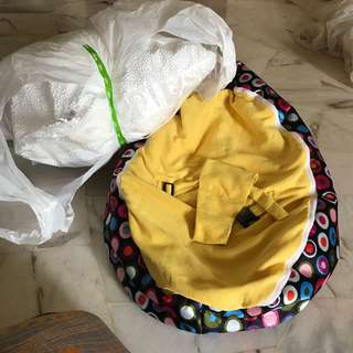 Baby bean bag with new refill