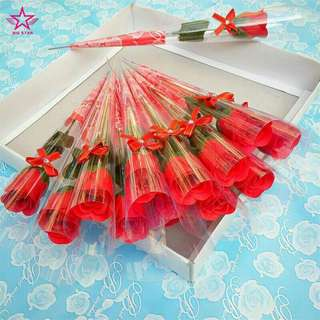 Floral Decor Rose Artificial Flower Simulation Colorful Balmy