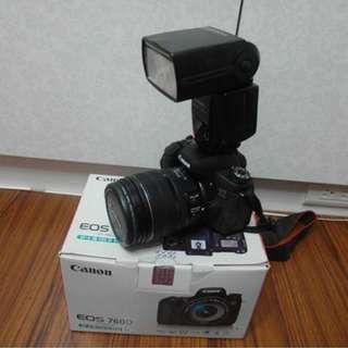 【出售】Canon 760D 數位單眼相機 彩虹公司貨 盒裝完整 9.9成新
