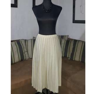 SALE Pleated Midi Skirt