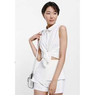 Love Bonito Ophelia Origami Peplum Shorts (white)