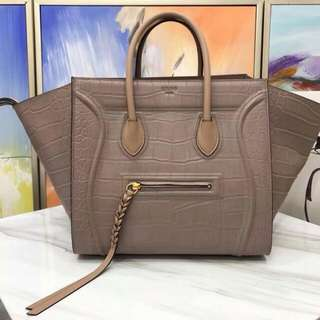 Celine Luggage Phantom Croc Skin