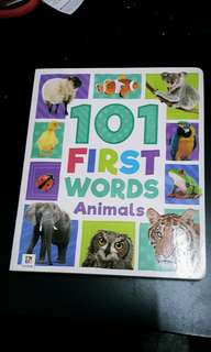 Baby board book - first words animals