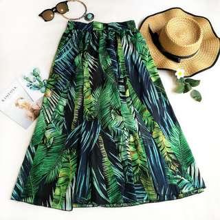 B003 Helena Tropical Print Skirt