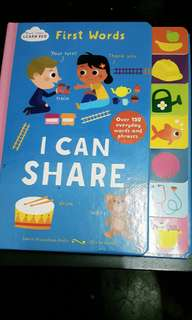 Board book- first words i can share
