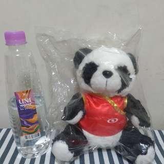 🚚 免費*新光中國風貓熊玩偶
