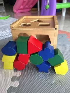 Melissa and doug wooden shape sorter