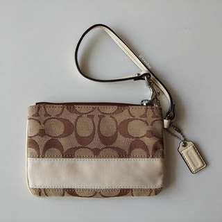 Authentic Coach Small Signature Wristlet