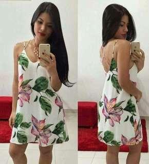 Floral vest mini dress