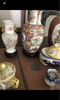 Large table vases n all
