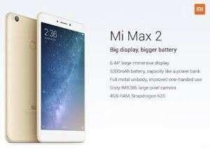 Xiaomi Mi Max 2 Prime Smartphone - Gold [128GB/ 4GB] Tanpa Kartu Kredit