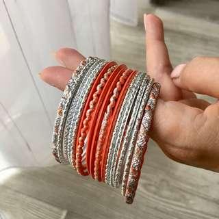 Vintage Orange Indian Bracelet